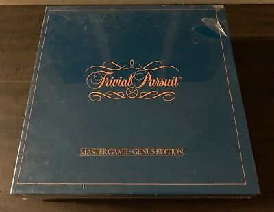 Trivial pursuit master game genus edition 1981 complete for sale.