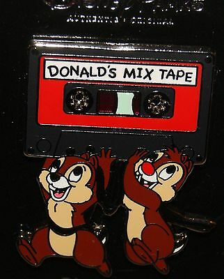 Disney 2016 CHIP & DALE with DONALDS MIX TAPE Pin NEW ON ORIGINAL CARD
