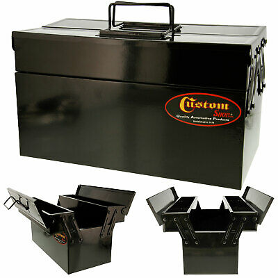 Custom Shop's Metal Folding Storage Box for Auto Body Tool Storage
