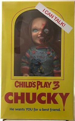 "Mezco Chucky Child's Play 3 Talking Pizza Face Designer Series 15"" Doll w/ Sound"