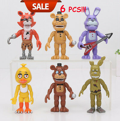 6 PCS Five Nights At Freddy's FNAF 6'' Action Figures With Light CLCT Toys Gifts