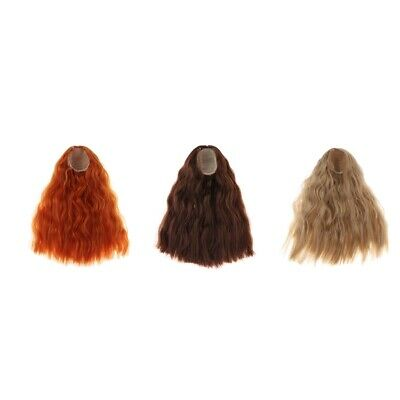 1/4 BJD Doll Wig Heat Resistant Curly Hair for 1/4 Bjd Dolls DIY Making Accs