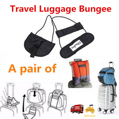 2x Travel Bag Strap Luggage Bungee Adjustable Belt Backpack suitcase Carry On