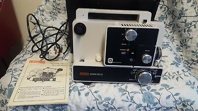 Eumig Mark 610 D - Dual 8 Silent Projector Cine Movie in Case with Manual