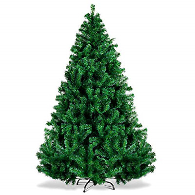 WELOVE Premium Hinged Artificial Christmas Pine Tree with Solid Metal Legs Full