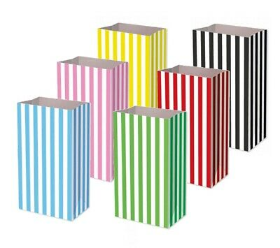 Pick and Mix Bags - Birthday Party Candy Stripe Large Thick Paper Sweet Food Bag