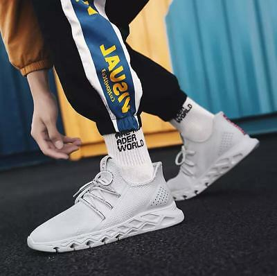2019 Men's Casual Sneakers Mesh Breathable Fashion Soft Athletic Sports Shoes