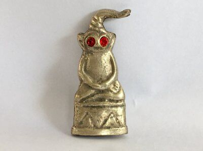 Phra Ngang Charm Thai Amulet Love Red Eyes Block Magic Talisman Success