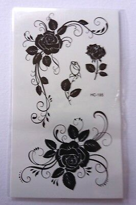 ROSES TEMPORARY TATTOOS 110mm X 60mm HC185