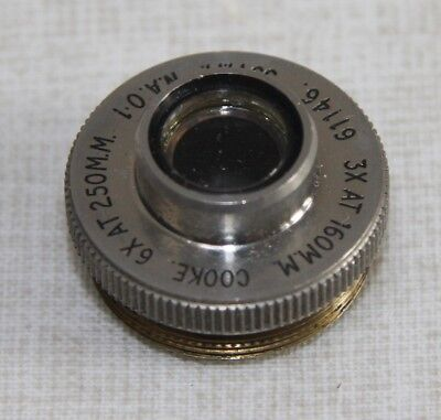 Cooke Microscope Objective3X@160 / 6X@200 33mm N.A 0.1 (Short type) - Good