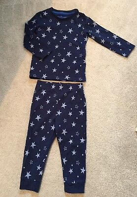 M&S Marks & Spencer's 12-18 Month Blue Star PJs / Pyjamas