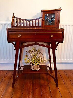 Antique arts and craft Small Writing Desk Console Mahogany Hall Desk