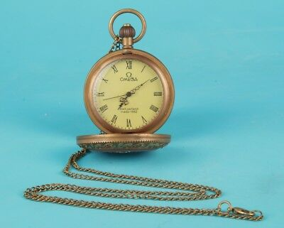 Copper Handmade Mechanical Precision Pocket Watch Father Gift Can Used