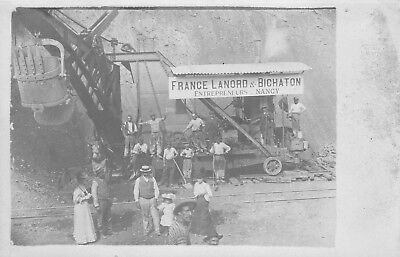 Rare Carte Postale Ancienne Photo France Et Bichaton Entrepreneur Nancy
