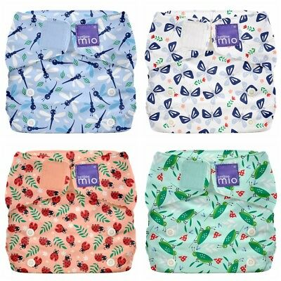Miosolo Nappy Bambino Mio All In One Washable One Size Birth to Potty BUGS LIFE