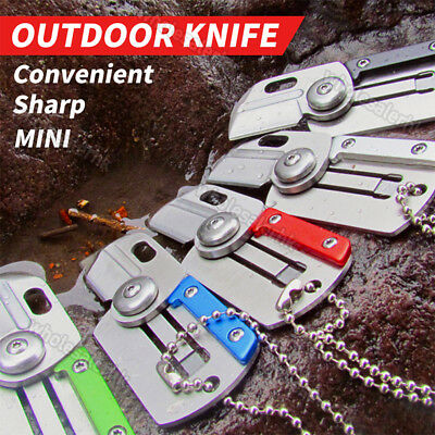 Outdoor Multi-function Knife Stainless Mini Coin Key Chain Folding Tool Hanging