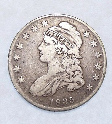 1835 Capped Bust/Lettered Edge Half Dollar VERY FINE Silver 50-Cents