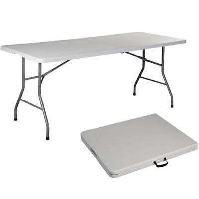 Folding Table 6' Portable Plastic Indoor Outdoor Picnic Party Dining Camp Tables