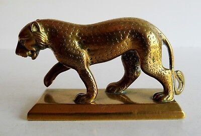 Wonderful Antique Bronze / Brass Model Of A Large Cat - Persian / Indian