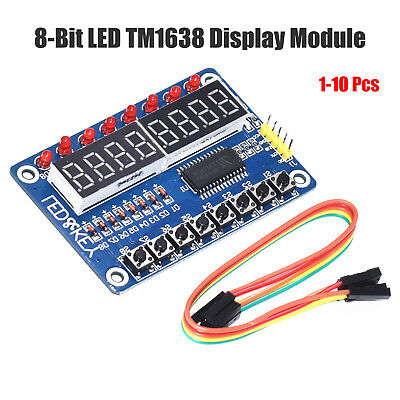 8- 7 SEGMENT LED Plus16 button TM1638 Key Display, for Arduino, UK