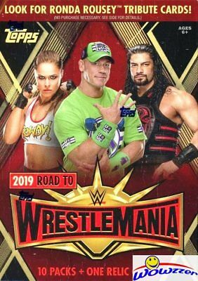 2019 Topps WWE Road to Wrestlemania EXCLUSIVE Factory Sealed Blaster Box-RELIC