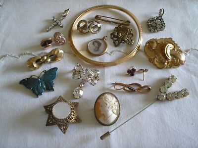 #  Job Lot ANTIQUE Victorian / OLD / VINTAGE Costume JEWELLERY  #