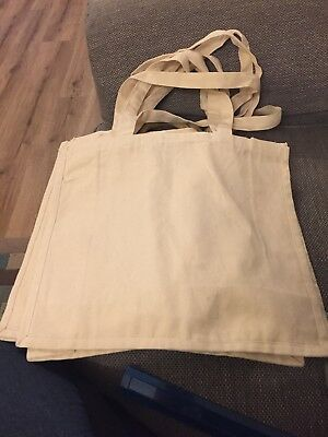 Blank CREAM Canvas Bags - JOB LOT - Craft Project