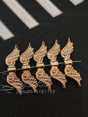 P323/ 15pc Tibetan Gold Charms Angel wings Spacer Beads Findings Wholesale