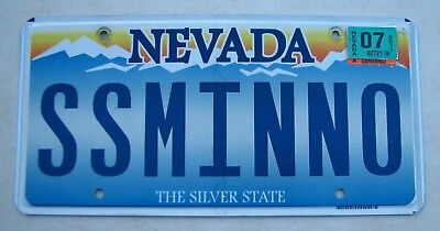 "Nevada Vanity Auto License Plate "" Ss Minno "" Gilligan's Island Ginger Mary Ann"