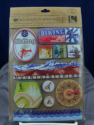 New K & Company Boy Scouts Adventure Adhesive Chipboard 11 Pieces  540