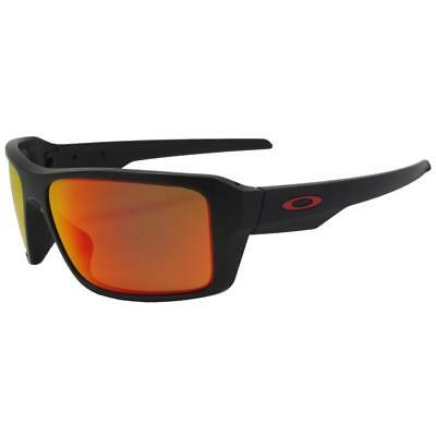 d87e5da7d2 Oakley OO 9380-0566 POLARIZED DOUBLE EDGE Matte Black Prizm Ruby Sunglasses  .