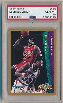 MICHAEL JORDAN 1992-93 Fleer #273 Slam Dunk PSA 10 GEM MINT CHICAGO BULLS