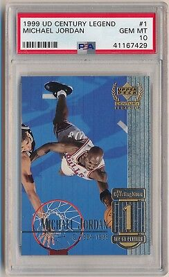 MICHAEL JORDAN 1999-00 Upper Deck Century Legend #1 PSA 10 GEM MINT BULLS HOF