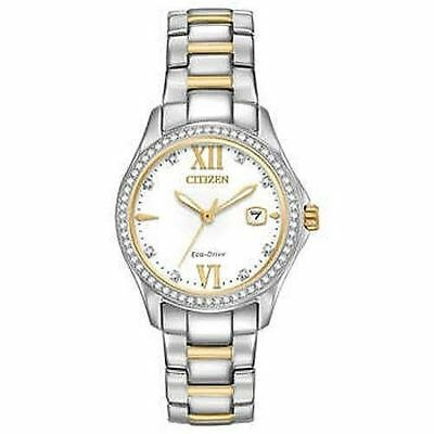 Women's CITIZEN Gold/Silver 30mm Stainless Steel/Water Resistant Watch NEW!