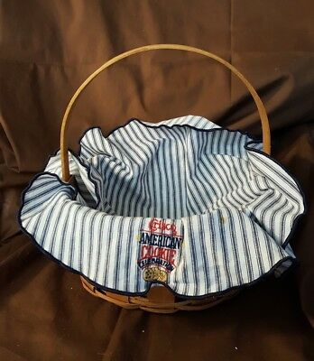 Longaberger 1992 Crisco American COOKIE Celebration Basket & Liner