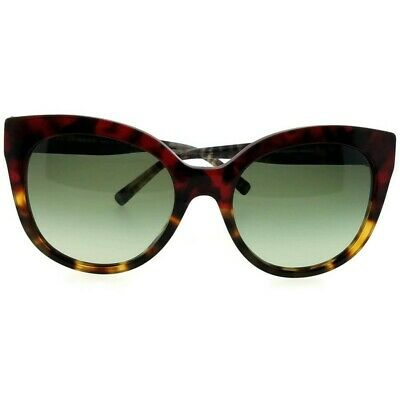 455ff6f51 Burberry BE4243-36358E Cat Eye Women's Havana Frame Green Lens Sunglasses  NWT