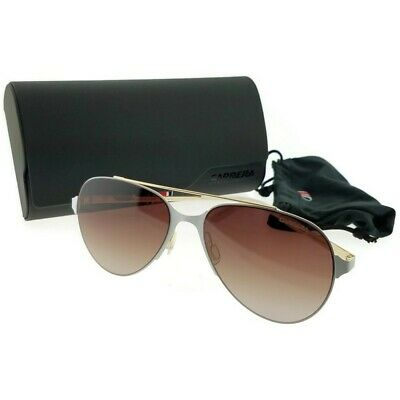 dac0350656 Carrera 113S-029Q-57 Aviator Unisex Gold Frame Brown Lens Genuine Sunglasses  NWT