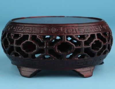 Chinese Wood Vase Display Base Stand Bracket Home Decoration Gift Unique