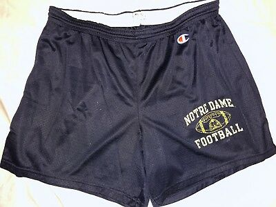 Vintage Notre Dame Fighting Irish Champion Mesh Shorts Mens Large