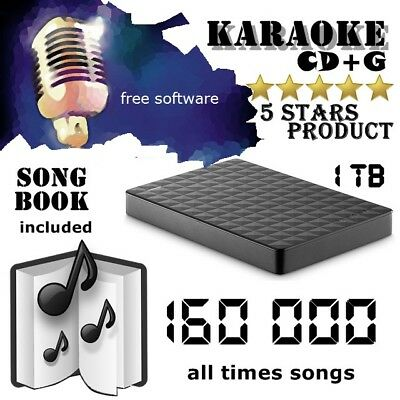 DJ KARAOKE Hard Drive Collection High Quality cdg+mp3 1Tb HDD 160 000 songs