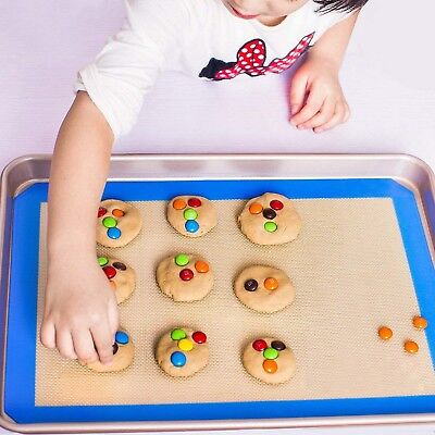 Blue Baking Mat Non-Stick Silicone Pad For Sheet Bakeware pastry Cake Cookie