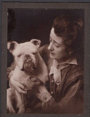 Vintage Photograph 1920S Puppy Dog Huge Big English Bulldog London England Photo
