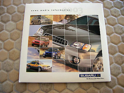 Subaru Official Forester Baja Legacy Wrx Press Cd Brochure 2003 Usa Edition