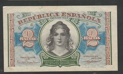 2 Pesetas From Spain 1938 XF