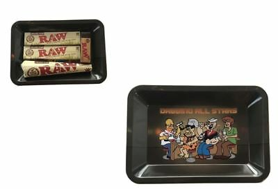 Raw Dab All Stars Rolling Kit Tray Bundle Kit King Size Papers Raw Cones Tips