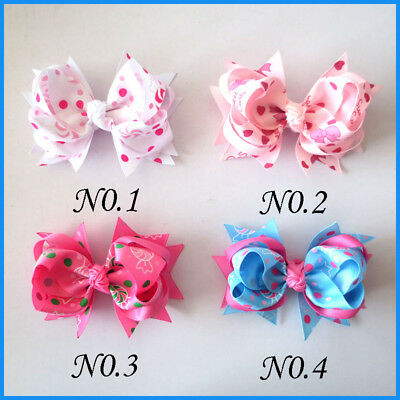 14 BLESSING Good Girl Custom Boutique 4.5 Inch Ring Hair Bow Clip 12 No.