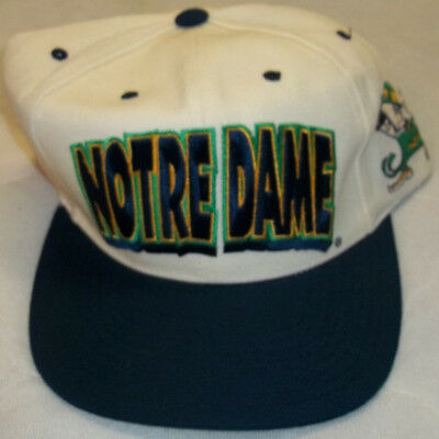Vintage 1990's NCAA Notre Dame Fighting Irish Snapback Baseball Cap Hat