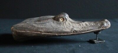 Crocodile Head From One Kids Canoe Old Authentic Original