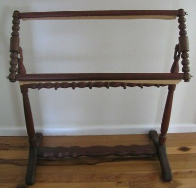 hand crafted wooden FLOOR STANDING TAPESTRY FRAME Quality piece PICK UP  Hornsby