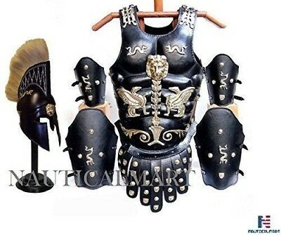 FANTASTIC COSTUME FOR EVERYONE Roman Muscle Armor Cuirass Leather Set W/ Helmet-